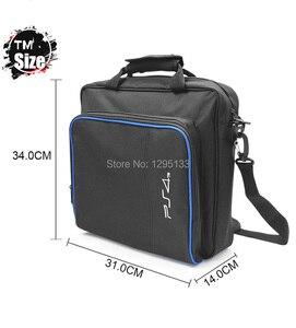 Image 3 - PS4 Pro Slim oyun sistemi seyahat çantası tuval kılıfı korumak omuz taşıma çantası çanta Sony PlayStation 4 konsol ve aksesuarları