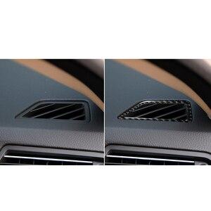 Image 5 - Bmw F10 5 シリーズ 2011 2017 インテリア炭素繊維車cdコントロールパネルインテリアステッカーacパネルフレーム空気アウトレットアクセサリー