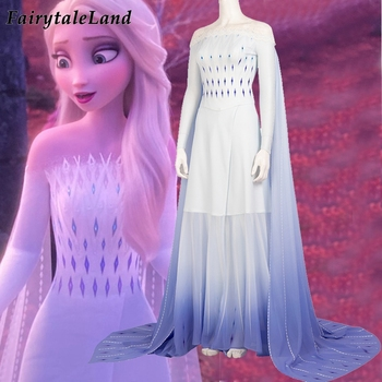 Elsa White Dress Fancy Carnival Halloween Costume Cosplay Princess Anna Elsa Costume Sexy Printing Dress Outfit Custom Made the touhou project yukari yakumo cosplay costume halloween luxury party dress custom made