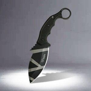 Cuchillo 58HRC CS GO Counter Strike Tactical Claw, cuchillo de Karambit, herramienta al aire libre, cuchillo táctico de supervivencia para campamento y caza