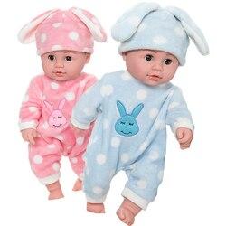 Jouets pour poupées en Silicone, jouets pour bébés garçon et fille, corps doux, interaction avec enfants, bain et sommeil, 45CM