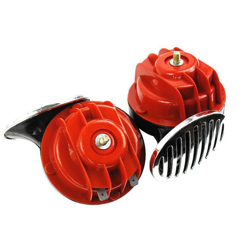 2Pcs 12V/24V Super Train Horn For Trucks SUV Car Boat Electric Horn Car Horn Loud Pressure Klaxon Speakers For Car Motorcycle