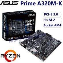 Placa-mãe asus prime A320M-K amd ryzen soquete am4 ddr4 vga m.2 pci-e 3.0 usb 3.1 micro-atx para jogos hdmi-compatível com novo
