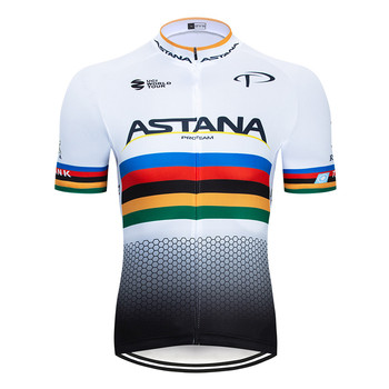 2020 preto astana roupas de ciclismo bicicleta jérsei secagem rápida dos homens roupas verão equipe ciclismo jérsei 9dgel bicicleta shorts conjunto 16