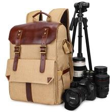 Photo Pack Outdoor Bi-Shoulder Digital Pack Canvas Camera Bag Travel Backpack Men