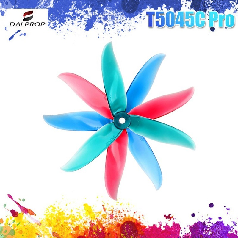12Pair 24PCS Upgraded DALPROP CYCLONE T5045C Pro 5045 5x4.5x3 3-blade POPO Propeller CW CCW For RC Drone FPV Racing