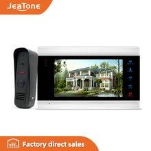 Jeatone 7 дюймовый цветной ЖК видеодомофон монитор с сенсорной