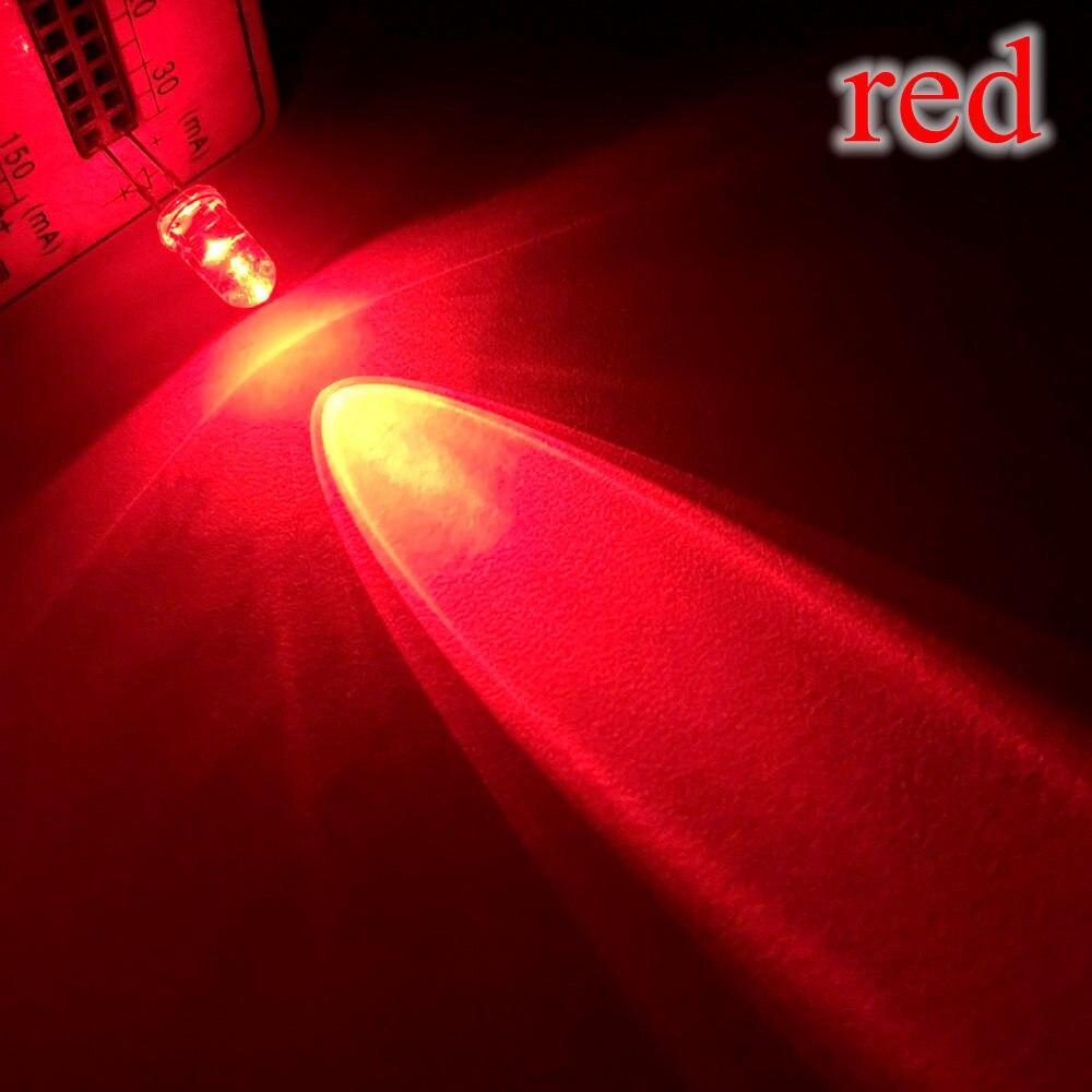 20X F5 5 мм круглый белый, красный, зеленый, синий, желтый, розовый прозрачный Диод Led супер яркий светодиод 6000-6500k лампа - Испускаемый цвет: Красный