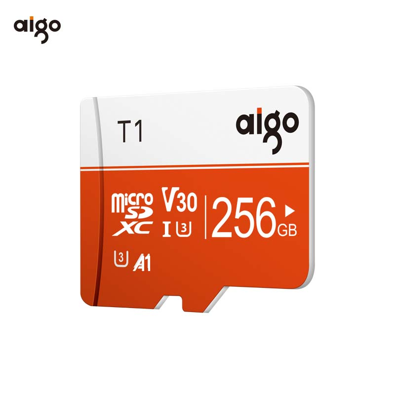 Aigo 256G 97MB/S high speed microsd card UHS-3 V30 A1 micro sd card waterproof tf card heat resistant memory card Pakistan