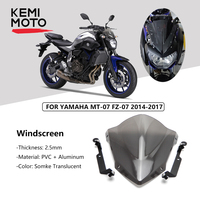 KEMiMOTO For YAMAHA MT07 MT 07 Windshield WindScreen For FZ07 2014 2015 2016 2017 Wind Deflectors Motorcycle Accessories