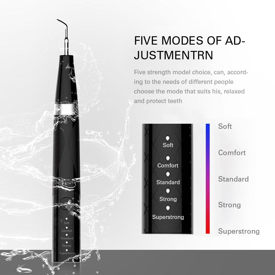 Домашний ультра-звуковой аппарат для удаления зубного камня, электрический портативный скалер для удаления дыма, пятна от зубного камня, зубной налет, белый цвет
