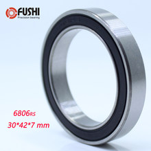 6806-2RS Lager 30*42*7mm (1 PC) ABEC-3 6806 RS Fiets BB30 Beugel Bodem 30 42 7 Ballen Lagers