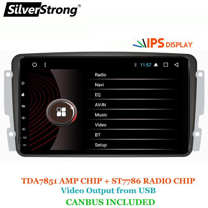 SilverStrong 8inch Android GPS Car Radio for Mercedes Benz CLK W209 W203 W208 W463 Vaneo Viano