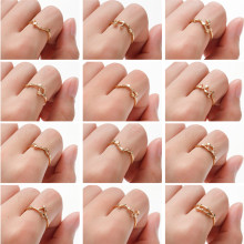Cxwind Constellation Rings Libra Gemini Taurus Cancer Aries Ring Lady Wedding Engagement Women Fashion Birthday Jewelry anillos(China)