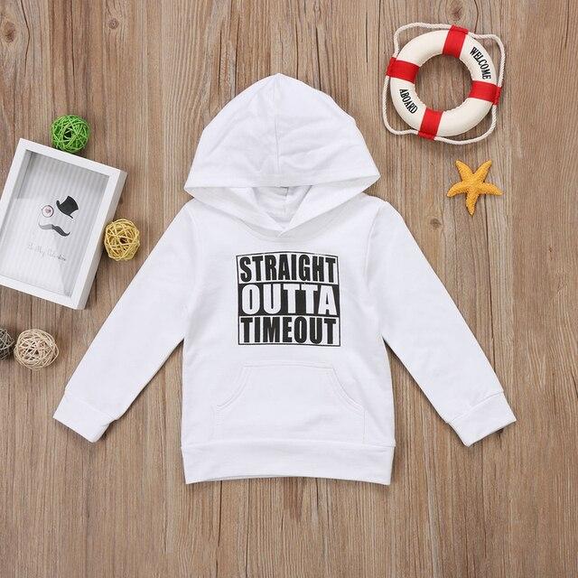 Pudcoco US Stock Newborn KIds Baby Boy Girl Clothes Hoodie Tops Hooded Sweatshirt Casual Outdoor Sport 2