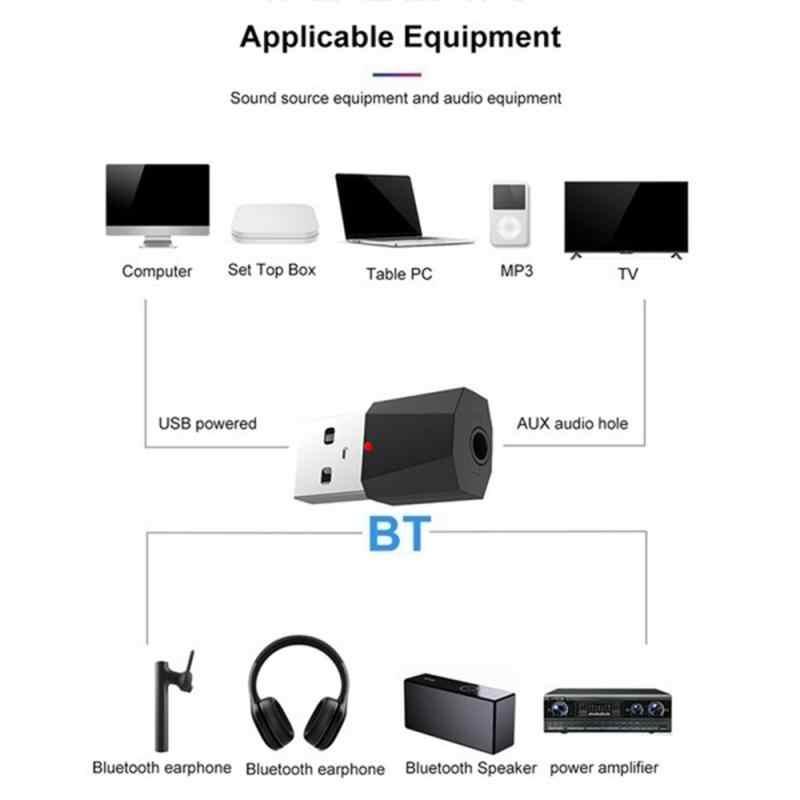 Nirkabel USB AUX Bluetooth Mobil Bluetooth Mini Bluetooth Receiver Adaptor Musik Speaker Nirkabel Audio Aksesoris Mobil TXTB1