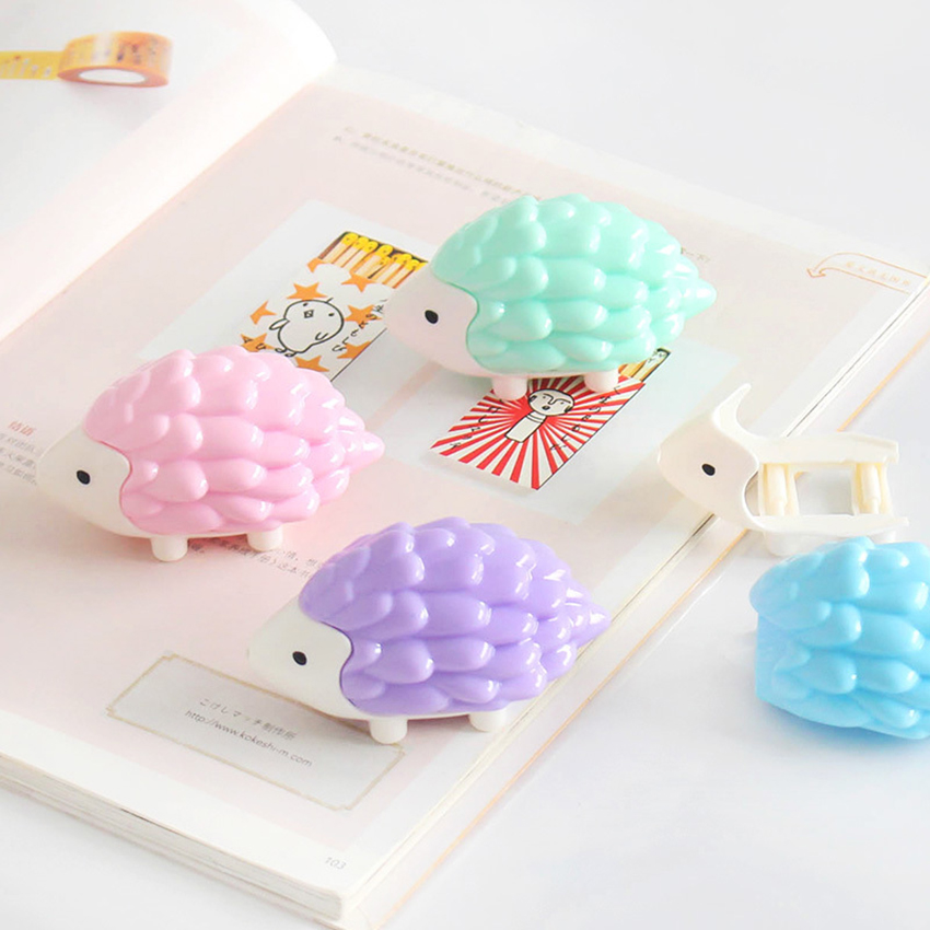 Hedgehog Correction Tape Pupils Corrector Kawaii Animal Shape Modify Tape Students Stationery Office Supplies Altered Tapes