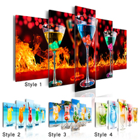 Juice cocktail diamond embroidery 5 pcs,Cross stitch diamond painting full drill square round diy mosaic diamond festival gift