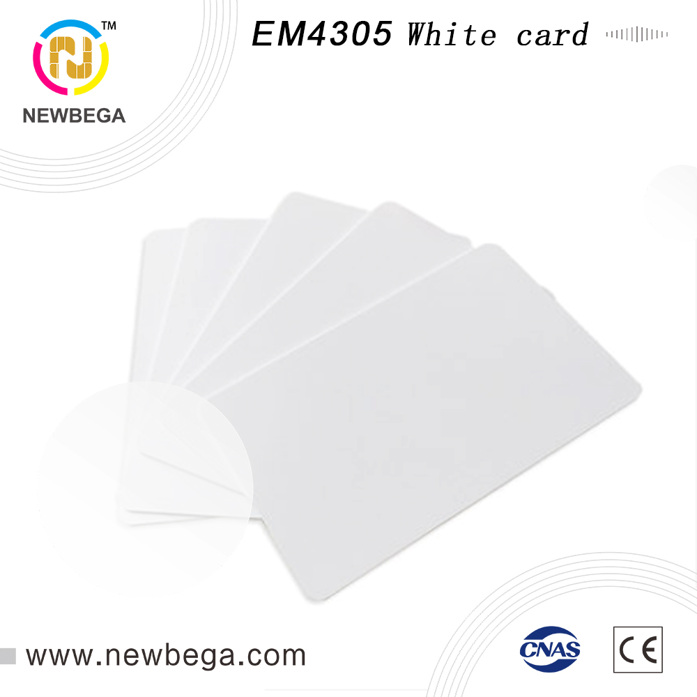 600PCS EM4305 White Card Identifiable ID Card EM4305 Thin Card Smart Card Membership Card Can Print Adjacent Card Free Shippin