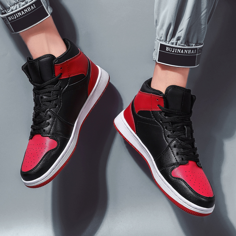 Sneakers Men Basket Jordan-Shoes High-Top Outdoor Retro Sports New Lace-Up Homme title=