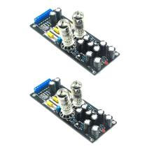 2pcs 6N3*2 (5670/6H3) Stereo Tube Preamplifier Assembled Board Tube Buffer AC12V 1A