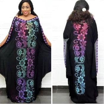 Bazin Riche African Dresses for Women Vestido African Clothing Dashik African Party Dress Gown Plus Size 2 Pieces Long Dresses