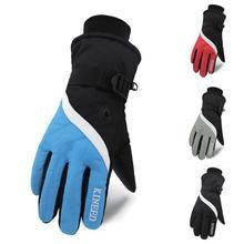 Перчатки для катания на лыжах, мужские, полный палец, толстые, водонепроницаемые, противоскользящие, термальная, ручная одежда, для улицы, зимняя спортивная одежда, аксессуары