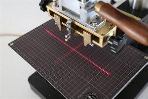 Image 4 - Máquina de estampación TF1135 rcidas, color bronce/Máquina de plegado de cuero, máquina de estampación en caliente, relieve de cuero 220V pedido mínimo 5set