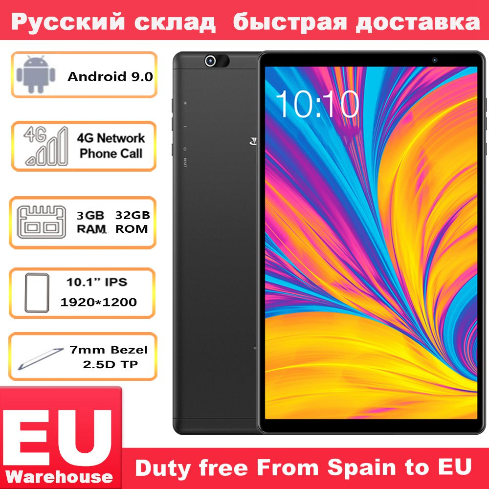 Teclast P10HD 4G Anruf Tabletten Octa Core 10,1 inch IPS 1920 × 1200 3GB RAM 32GB ROM SC9863A GPS Android 9,0 6000mAh tablet PC