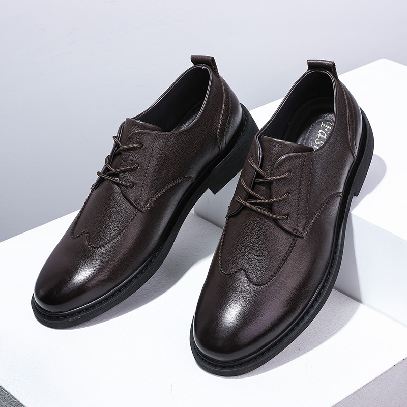 Male Casual Shoes Hot Soft Genuine Leather Men Dress High Quality Leather Oxford Shoes Men Flats Driving Footwear Black %