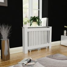 """White MDF Radiator Cover Heating Cabinet 44"""" Table Durable Heating Cabinet Cover Living"""