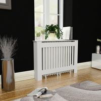 White MDF Radiator Cover Heating Cabinet 44 Table Durable Heating Cabinet Cover Living Room Storage Rack Shelf Home Decoration