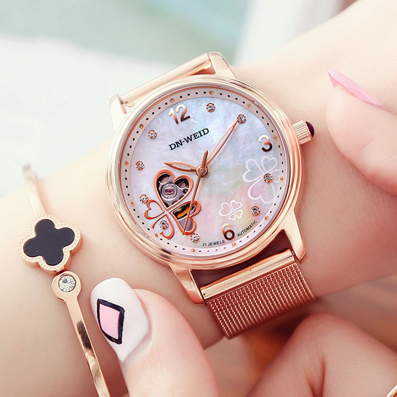 AESOP Women's Automatic Mechanical Ladies Watch Women Luxury Dress Fashion Women Watches Female Clock Woman Relogio Feminino A