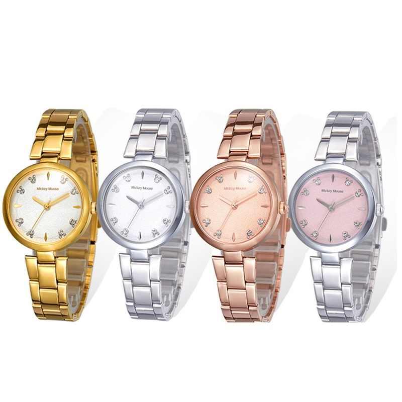 דיסני הרשמי קוורץ צפה נירוסטה שעונים נשים מיקי מודרני חדש אופנה מתנת שעון כסף עלה זהב טון מקסים Montre
