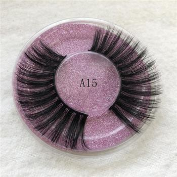3D False Eyelashes 100% Mink Hair Fake Lashes Dramtic Thick Long Wispies Fluffy Eyelashes Extension Makeup Tools image