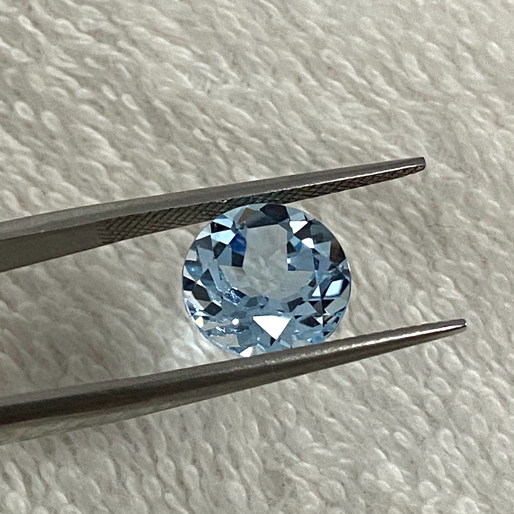11mm natural topaz sky blue topaz loose stone brilliant cut 6.2 carats Good Quality gemstone for jewelry