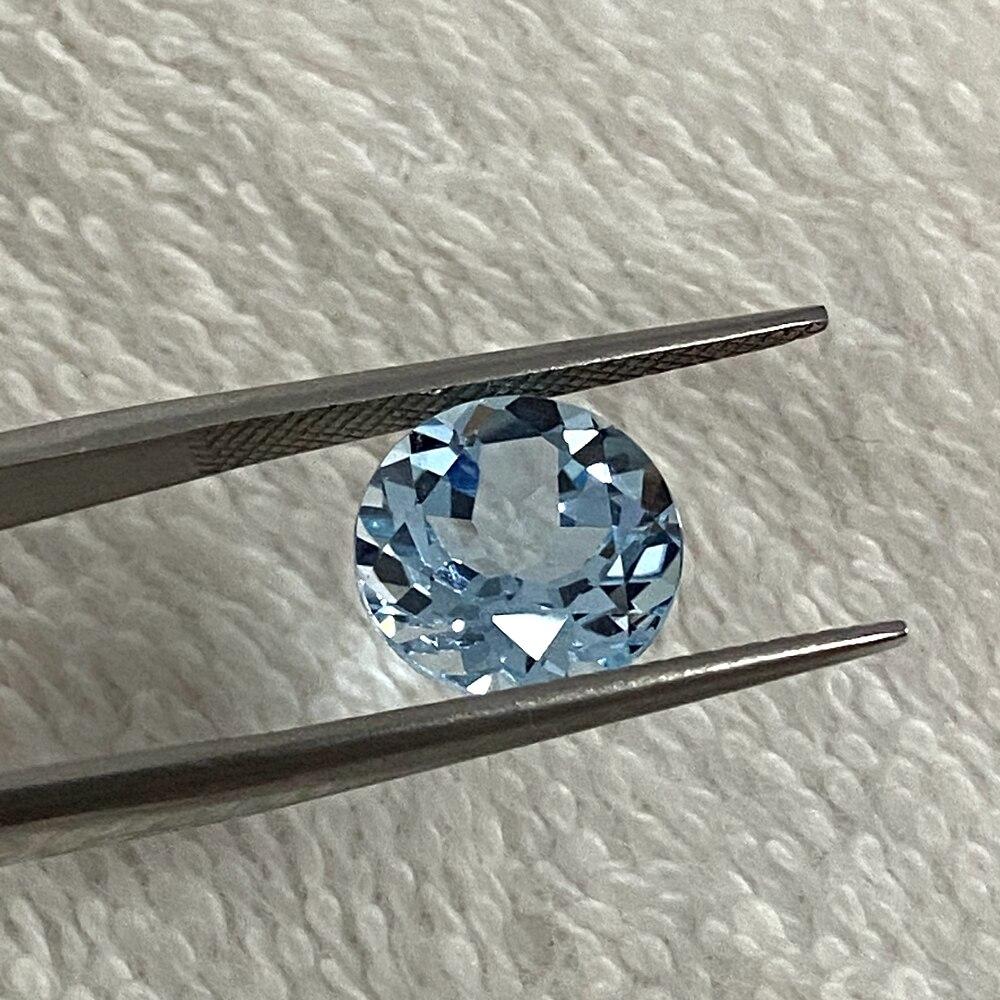 Preciosa para Venda Corte Brilhante Quilates Aaa Qualidade Topázio Natural Céu Azul Pedra 9 mm 3.5