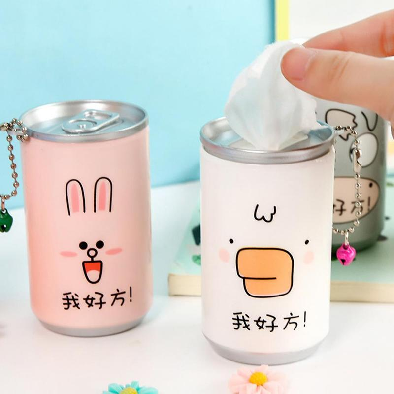 30pcs/Box Cute Cans Wet Wipes For Hands Clean Portable Disinfection Wipes Wet Paper Towel Skin Cleaning Phone