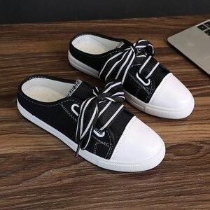 Heelless canvas shoes women pr