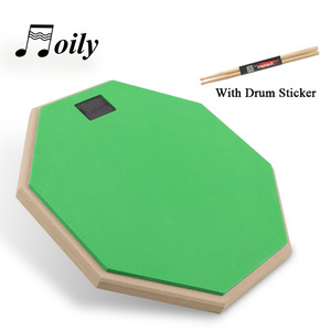 Image 4 - 8 Inch Rubber Wooden Dumb Drum for Beginner Practice Training Drum Pad Stand and drumstick for Percussion Instruments Parts