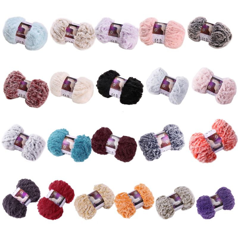 50g/Ball DIY Fluffy Plush Chunky Knitting Yarn Hand-Woven Crochet Velvet Thread
