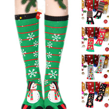 Printing women cold-proof warm snowman five-fingered socks toe funny for girls Christmas surprise gifts happy