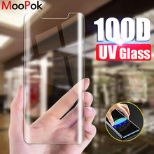 100D Curved Edge UV Screen Protector Tempered Glass For Samsung Galaxy S8 S9 S10 Plus Note 8 9 10 S7 Edge Protective Glass Film(China)