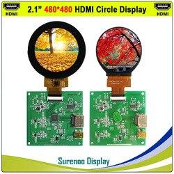 2.1 480X480 دائرة مستديرة HDMI إلى MIPI IPS وحدة LCD شاشة رصد مع USB لوحة سعوية تعمل باللمس