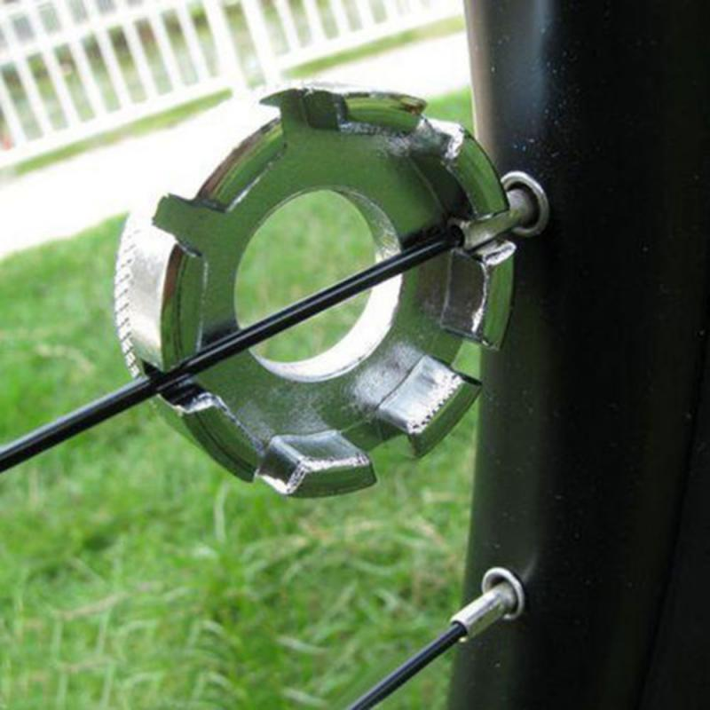 จักรยาน Spoke Nipple ประแจ 8 10-15G Spoke Nipple Key Groove BIKE ล้อปรับ Spanner ซ่อมเครื่องมือ