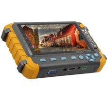 Monitor del probador del CCTV de 5 pulgadas 2019 actualizado IV8W 5MP 4MP TVI AHD CVI CVBS soporte del probador de la cámara de seguridad PTZ Audio VGA