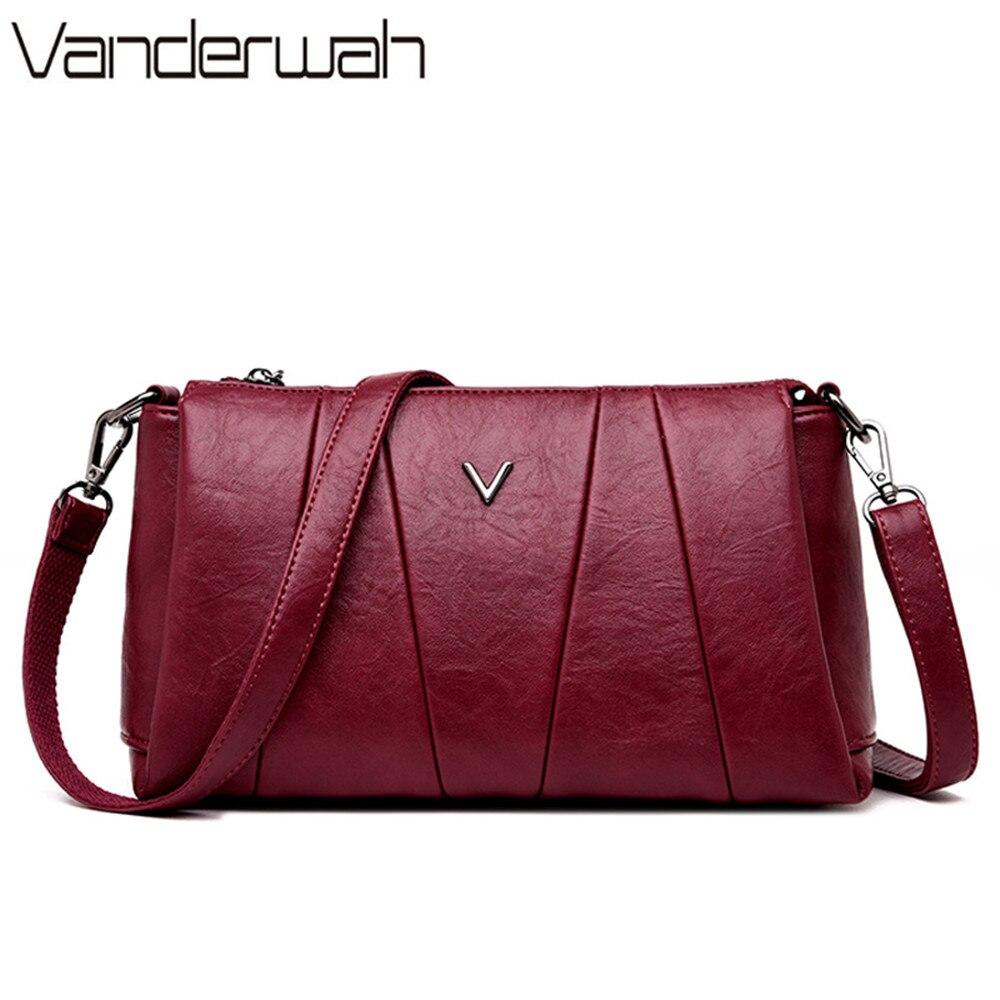 2019 3-in-1 Leather Luxury Handbags Women Bags Designer Small Ladies Hand Bags For Women Shoulder Bag Bolsa Feminina Sac A Main