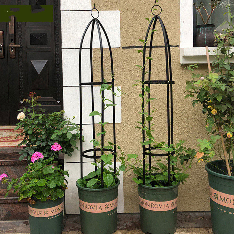 Arbor Gardening Climb Bracket Botany Iron Art Pillar Room Domestic And Foreign Chinese Rose Clematis Lotus Grape Rack