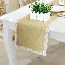 1 шт льняная кружевная столешница пасторальный стиль для дома