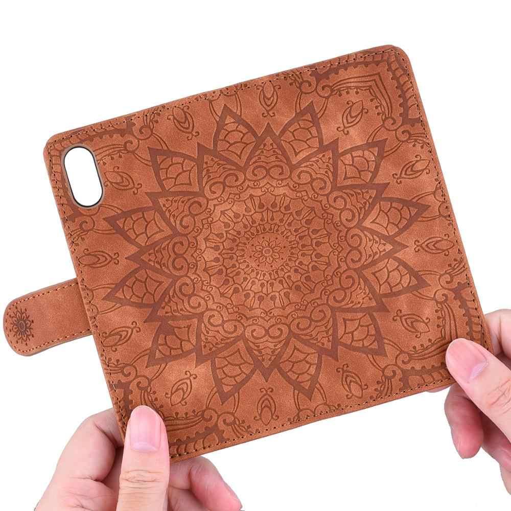 Kwiat odwróć Book skórzane Coque obudowa do Xiaomi Redmi Note 8 i Redmi Note 8 Pro etui Flip wallet przypadku